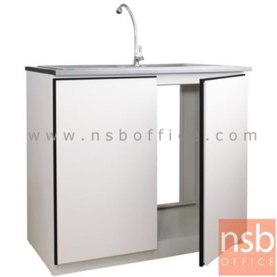 ตู้ครัวเหล็ก TOP สแตนเลส พร้อมซิงค์ รุ่น DOBBEL DB-203  :<p>ขนาด 100W*60D*90H cm. พร้อมช่องด้านหลังโปร่งเพื่อง่ายต่อการเดินท่อน้ำ รวมซิงค์น้ำ+ แถมฟรีก๊อกน้ำ**ไม่รวมท่อน้ำ+การเดินท่อน้ำ**</p>