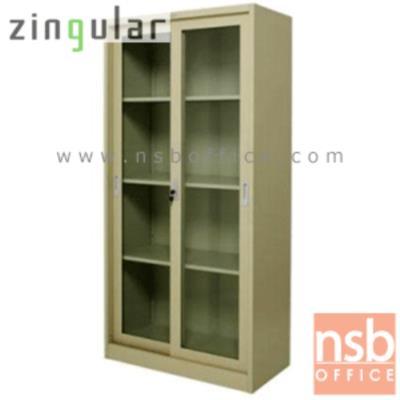 ตู้เหล็กบานเลื่อนกระจกสูง 185 ซม. รุ่น ZINGULAR-ZDG-1886  มี 3 แผ่นชั้น:<p>ขนาด 90W*45D*185H cm. บานเลื่อนกระจก 2 ประตู ภายในมี 3 แผ่นชั้น(4 ช่อง) แผ่นปรับระดับได้ /โครงผลิตจากเหล็กหนา 0.6 มม. พ่นสีด้วยระบบ Epoxy สีเรียบเนียบไปกับเนื้อเหล็ก ใช้สำหรับเก็บแฟ้มหรือวัสดุอุปกรณ์อเนกประสงค์ /มีให้เลือก 2 สีคือสีครีม และสีเทาสลับ(เทา/ครีม)</p>
