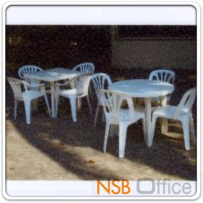 โต๊ะหน้าพลาสติก รุ่น TOTO-ROUND  ขนาด 88W cm.  ขาพลาสติก:<p>ขนาด 88W* 72D* 35Di* 72H cm. ขนาดเส้นผ่านศูนย์กลาง 35 นิ้ว (88*72 ซม.) ผลิตจากพลาสติกอย่างดี ทนทาน /มีสีขาว</p>