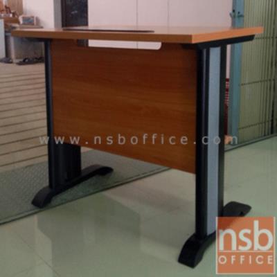 โต๊ะพริ้นเตอร์ขาเหล็ก  ขนาด 80W, 100W cm. พร้อมชั้นวางกระดาษด้านล่าง (ขาเลือกสีได้) ผิวเมลามีน:<p>ผลิต 2 ขนาดคือ 80W*60D*75H และ 100W*60D*75H cm / &nbsp;ขาพียูชุปโครเมี่ยม ร้อยสายไฟได้ &nbsp;/ ผิวเมลลามีน กันชื้น กันร้อน /</p> <p>&nbsp;</p>