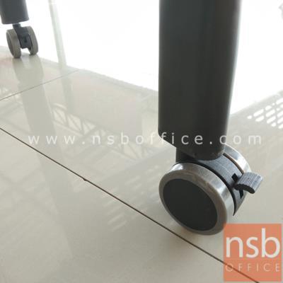 โต๊ะประชุมพับเก็บได้ล้อเลื่อน รุ่น CN-056 ขนาด 150W*60D cm.  พร้อมบังตาเหล็กและที่วางของด้านใต้