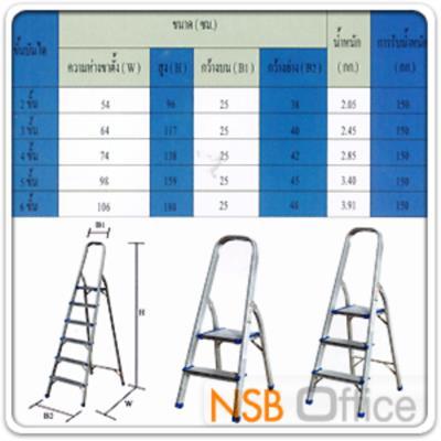 บันไดอเนกประสงค์ แบบมีหูจับ FRV-HOLA  (2-6 ขั้น):<p>มี 5 ขนาดคือ 3, 4, 5 และ 6 ขั้น สามารถรับน้ำหนักได้ 150 กก. /ผลิตจากอลูมิเนียมคุณภาพดี ทนต่อสภาพอากาศ ไม่เกิดคราบดำเมื่อใช้สามารถทำความสะอาดง่าย /ขาบันไดผลิตจาก PVC ช่วยต้านทานกระแสไฟฟ้า และกันลื่น /ผิวบันไดเป็นร่อง ป้องกันการลื่น และช่วยเพิ่มความมั่นคงขณะใช้ /ฐานล็อคบันไดเสริมความแข็งแรงและมั่นใจด้วยฐานรับแต่ละชั้น และร่องล็อคชั้นบนสุด /การจัดเก็บ สามารถพับเก็บง่ายเพื่อสะดวกในการเก็บและขนย้าย</p>
