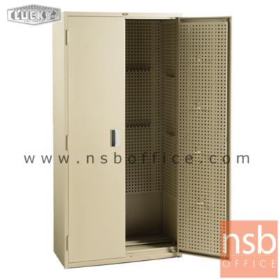 ตู้เหล็กเก็บเครื่องมือ 2 บานเปิดทึบ 185H cm. ยี่ห้อลัคกี้ รุ่น IEL-9185 มือจับฝัง:<p>ขนาด 90W*45D*185H cm. มีกุญแจล็อก ภายในตู้มีแผงสำหรับเก็บอุปกรณ์เครื่องมือได้หลากหลาย คุณภาพแข็งแรง ทนทาน เหมาะสำหรับงานช่าง /ผลิต 2 สีคือสีครีม และสีเทาล้วน</p>
