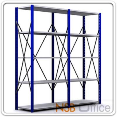 ชั้นเหล็ก MR ก120*ล60 ซม. ชั้นปรับระดับได้ (รับน้ำหนัก 150-200 KG/ชั้น):<p>รับน้ำหนักได้ 150200 KG ต่อชั้น / มีความสูง &nbsp;4 ขนาดคือ 180, 200, 220 และ 240 ซม. / โครงเหล็กแข็งแรง เสาเหล็กหนา 2 มม. แผ่นชั้นเหล็กหนา&nbsp;1 มม./&nbsp; เสาสีน้ำเงิน แผ่นชั้นสีเทาอ่อน /<strong>สามารถใช้เสาร่วมได้ กรณีต่อเป็นเส้นตรง ตัวที่ 1 ราคาเต็ม มี 4 เสา, ตัวถัดๆไป มี 2 เสา ลด 600 บาท/ตัว&nbsp;</strong></p>