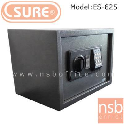 ตู้เซฟดิจตอล SR-ES825  น้ำหนัก 5.5 กก. (1 รหัสกด / ปุ่มหมุนบิด) :<p>ขนาด 35W*25D*25H cm. น้ำหนัก 5.5 กก. / โครงตู้สร้างด้วยเหล็กคุณภาพ &nbsp;สามารถยึดตัวตู้กับพื้นหรือผนังได้ / เปลี่ยนรหัสได้โดยใช้ตัวเลข 3-8 ตัว /ระบบกุญแจไขฉุกเฉินสามารถเปิดได้กรณีลืมรหัสผ่านหรือแบตเตอร์รี่หมด ระบบล็อคอัตโนมัติ ในกรณีกดรหัสผิด 3 ครั้ง</p>