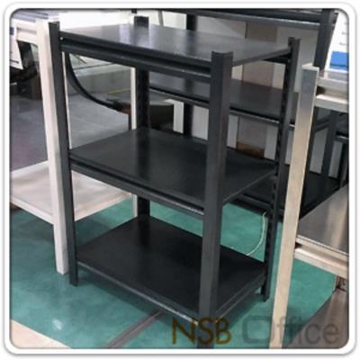 """ชั้นเหล็กสำนักงาน 106W*30D cm. (ทุกความสูง)  ระบบ Knock down ประกอบง่าย:<p>ขนาด 42W*12D นิ้ว (106W*30D cm.) ผลิตความสูง 4 ขนาดคือ 36, 55, 72 นิ้ว&nbsp;มีแผ่นชั้นตั้งแต่ 2, 3, 4 และ 5 แผ่นชั้น /โครงพร้อมแผ่นชั้นผลิตเหล็ก เกรดดี /ผลิตสีดำ<br />ระบบ Knock down ประกอบง่ายไม่ต้องใช้เครื่องมือ /เลือกแผ่นปิดข้าง ปิดหลัง กันตกได้ /&nbsp;<span>ขนาดที่ระบุเป็นขนาดเฉพาะแผ่นชั้น ขนาดพื้นที่ในการจัดวางรวมเสา +2 cm</span></p> <p><br /><span style=""""text-decoration: underline; color: #ff0000;"""">พิเศษ</span> แผ่นชั้นปรับระดับได้ด้วยระบบกระดุมล็อค ไม่ต้องใช้สกรูน็อต /&nbsp;สามารถติดตั้งล้อเพิ่มได้ ดูจากรหัส <a href=""""http://www.nsboffice.com/productdetail-gid-5480.aspx"""">G12A027</a>&nbsp;และ <a href=""""http://www.nsboffice.com/productdetail-gid-5481.aspx"""">G12A028</a></p>"""