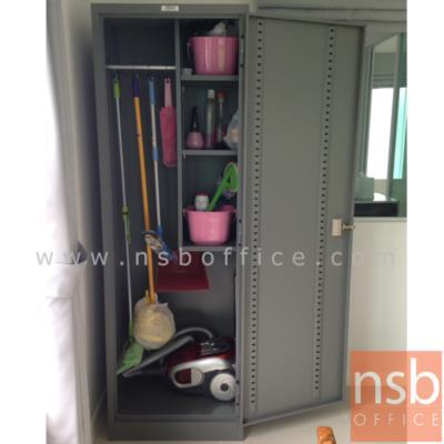 ตู้เหล็กแม่บ้าน 1 บานเปิด 60W*45.8D*183H cm ยี่ห้อเวลโก(WELCO) (เก็บอุปกรณ์ทำความสะอาด):<p>เหมาะสำหรับเก็บอุปกรณ์แม่บ้าน อุปกรณ์ทำความสะอาด /&nbsp;ขนาด 60W*45.8D*183H ซม. เหล็กหนา 0.5 มม./ ภายในมี ราวแขวนผ้า พร้อม 2 แผ่นชั้นสำหรับวางของ สามารถปรับระดับได้ /&nbsp;<span>หน้าบานผลิต 5 สี</span></p>
