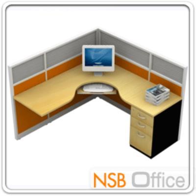 ชุดโต๊ะทำงานตัวแอล 1 ที่นั่ง ขนาด 166W*166D cm. พร้อมพาร์ทิชั่น Hybrid:<div> <p>สำหรับ 1 ที่นั่ง / ขนาด 166.5W*166.5D*120H cm&nbsp;/ ตู้ลิ้นชักขาทึบ / ผิวเมลามีน ผลิตสีเชอร์รี่, สีบีช, สีเมเปิ้ล, สีเทาควันบุหรี่, สีเทาเข้ม และสีดำ /แผ่นท๊อปหนา 28 มม.&nbsp;/&nbsp;พาร์ทิชั่นเกรดเอ Hybrid System มีรางแขวนงานไม้ ระบบร้อยสายไฟ (ไม่รวมเก้าอี้)</p> </div>