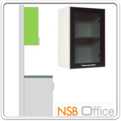 ตู้แขวน 1 บานเปิดกระจก 40W*30D*60H cm  :<p>ขนาด 40W*30D*60H cm. แผ่น TOP คุณภาพพิเศษ EUROPEAN STANDARD EN 321 ทนต่อทุกสภาพอากาศ /ปิดผิวด้วยเมลามีน(MELAMINE) ชนิดพิเศษทนความร้อนได้สูง ทนต่อรอยขีดข่วน และกรด ด่าง /บานพับปิดนุ่มนวล ด้วยระบบ SOFT CLOSE SYSTEM HINGE นำเข้าจากต่างประเทศ</p>
