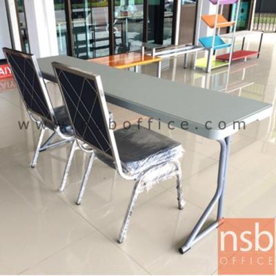 โต๊ะพับหน้าพลาสติก รุ่น JK-EX ขนาด 46.5W cm.  โครงเหล็กเคลือบพ่นสี :<p>ขนาด 46.5W*183.5D*5.5H cm. หน้าโต๊ะผลิตจากพลาสติก /โครงเหล็กเคลือบพ่นสี</p>