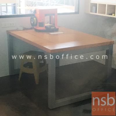 โต๊ะทำงานช่าง 150W , 180W รุ่น BNS-1234 ขาเหล็ก:<p>ผลิต 2 ขนาด คือ 150W*100D*75H cm. และ 180W*100D*75H cm.&nbsp;<span>หน้า TOP ไม้ทุเรียนทำสี หนาพิเศษ 5 cm. /&nbsp;<span>โครงขาเหล็ก 2 1/2 นิ้ว ทำสี</span></span></p>