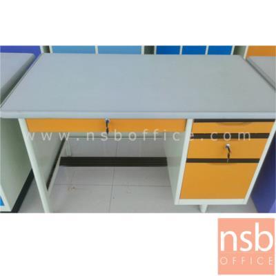 โต๊ะทำงานเหล็กหน้าเหล็ก 4 ลิ้นชัก รุ่น TM3F,TM35,TM4F   :<p>ความกว้าง 3 ขนาด 3, 3.5 และ 4 ฟุต&nbsp;</p>