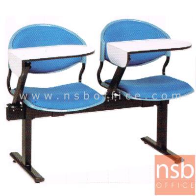 เก้าอี้เลคเชอร์แถวโพลี่หุ้มเบาะ พับไขว้ 2 , 3 , และ 4 ที่นั่ง รุ่น D190  ขาเหล็กเหลี่ยมพ่่นสี:<p>มี 3 ขนาดคือ 2, 3 และ 4 ที่นั่ง / ที่นั่งและพนักพิงเปลือกโพลี่หุ้มเบาะ มีหลายสี นั่งสบาย / แผ่นเขียนพับไขว้ เข้าออกได้สะดวก / โพลี่ผลิต 5สีคือสีเทาเข้ม, สีม่วงตุ่น, สีฟ้าคราม, สีดำ และสีเขียวตุ่น / ขาเหล็กเหลี่ยมพ่นสี</p>