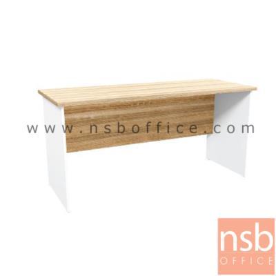 โต๊ะทำงาน รุ่น SR-KD1215 ขนาด 120W ,150W cm.  เมลามีน สีเนเจอร์ทีค-ขาว