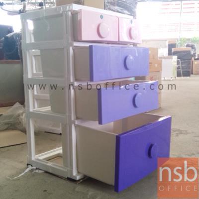 ตู้ลิ้นชักพลาสติก  5 ลิ้นชัก  SP-CL-08:<p>&nbsp;ขนาด 56W*45D*94H cm.&nbsp;ตู้พลาสติก 5 ลิ้นชัก มีกุญแจล็อก 2 ลิ้นชักด้านบน / ผลิตจากโพลีเมอร์เกรด A สามารถรับน้ำหนักได้มากลิ้นชักดึงได้สุดราง</p>