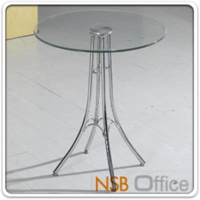 โต๊ะหน้ากระจก รุ่น FT-626 ขนาด 60Di ,60W cm.  โครงขาเหล็กชุบโครเมี่ยม:<p>ผลิตหน้าโต๊ะ 2 แบบคือ แบบเหลี่ยม และแบบกลม ขนาด Di60*75H cm. / TOP กระจกนิรภัย โครงขาเหล็กชุบโครเมี่ยม หน้ากระจกผลิต 2 แบบคือ กระจกใส และกระจกดำ</p>