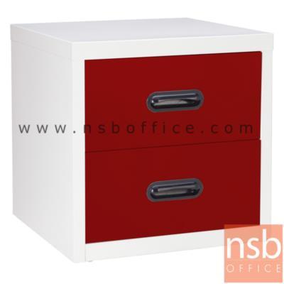 ตู้เหล็ก 2 ลิ้นชัก หน้าบานสีสัน 44W*40.7D*44H cm รุ่น UNI-4 :<p>ขนาด 440W*407D*440H mm. / ผลิต 8 สีคือ สีขาวมุก, สีดำ, สีแดง, สีม่วง, สีส้ม, สีฟ้า, สีเขียว และสีเทาฟ้า</p>