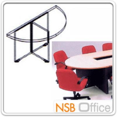 โต๊ะประชุมครึ่งวงกลม Di120, Di150 cm (เมลามีน ผลิตทุกสี):<p>มี 2 ขนาดคือ Di120 และ Di150 ซม. /TOP หนา 25 มม. ปิดผิวเมลามีน กันชื้น กันร้อน &nbsp;/ขาโต๊ะมีปุ่มปรับระดับ แนบสนิททุกพื้นที่และกันความชื้น</p>