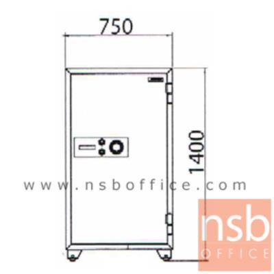 ตู้เซฟนิรภัยชนิดหมุน 370 กก. รุ่น PRESIDENT-SB70 มี 2 กุญแจ 1 รหัส (รหัสใช้หมุนหน้าตู้):<p>ขนาดภายนอก 75W*70.1D*140H cm. ขนาดภายใน 61W*46D*118.5H cm. หน้าบานตู้มี 2 กุญแจ 1 รหัส ภายในมี 1 ลิ้นชักพร้อมกุญแจล็อคแยก และมี 3 ถาดพลาสติก /ความจุ 332 ลิต สามารถกันไฟได้นาน 2 ชั่วโมง</p>
