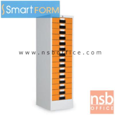 """ตู้เหล็กเก็บแบบฟอร์มสีสัน  10ลิ้นชักและ15 ลิ้นชัก รุ่น MD-10,MD-15:<p>ผลิต 2 ขนาด คือ 10และ 15 ลิ้นชัก (ด้านในลิ้นชักสูง 7 cm วางกระดาษใหม่ได้ 650 แผ่น) / โครงตู้เหล็กหนา 0.5 มม. ผลิต 4 สี คิอ สีแดง, สีเขียว, สีน้ำเงิน, สีส้ม&nbsp;</p> <table width=""""50%"""" border=""""1""""> <tbody> <tr> <td align=""""center"""">รางลิ้นชักเหล็ก</td> <td align=""""center"""">รางลิ้นชักล้อไนล่อน</td> <td align=""""center"""">รางลิ้นชักลูกปืน</td> <td align=""""center"""">ระบบป้องกันการล้ม</td> </tr> <tr> <td align=""""center"""">Yes</td> <td align=""""center"""">No</td> <td align=""""center"""">No</td> <td align=""""center"""">No</td> </tr> </tbody> </table> <p>หมายเหตุ</p> <ul> <li>รางลิ้นชักเหล็ก = รางลิ้นชักเหล็ก ไม่มีลูกล้อ</li> <li>รางลิ้นชักล้อไนล่อน = รางลิ้นชักเหล็ก ลูกล้อไนล่อน</li> <li>รางลิ้นชักระบบลูกปืน = รางลิ้นชักเหล็ก 2 ตอน ระบบลูกปืน(เปิดได้ 2 ใน 3 และรับ นน. ได้มากกว่า)</li> </ul>"""