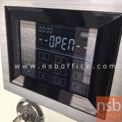 ตู้เซฟดิจิตอลทัชสกรีน 51 กก. TAIYO Touch screen DTS 377 K1D มอก.:<p>ขนาด ภายนอก 48*40*37.7 ซม. ภายใน 34.8*27.2*21.3 ซม. ภายในมี 1 ถาดพลาสติก /สามารถกันไฟได้ 1 ชั่วโมง</p>