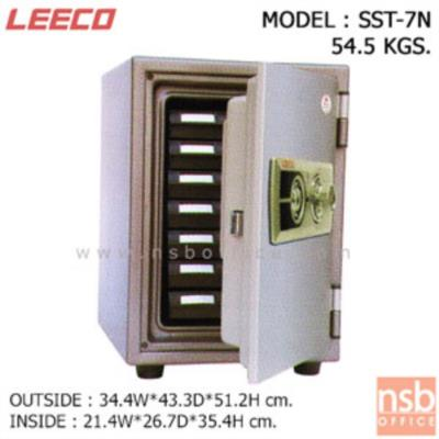 ตู้เซฟนิรภัย 54.5 กก.(แนวตั้ง) ลีโก้ รุ่น SST-7N มี 1 กุญแจ 1 รหัส (มีถาดพลาสติก 7 ลิ้นชัก):<p>น้ำหนัก 54.5 กก. รูปทรงแนวตั้ง ภายในมีถาดพลาสติก 7 ลิ้นชัก /กุญแจชนิดพิเศษแบบฝังลูกปืน(BOTH SIDES DIMPLE KEY) สามารถใช้ได้ทั้ง 2 ด้าน(REVERSIBLE KEY) ตู้เซฟผลิตจากเหล็กกล้าชนิดพิเศษ ทนต่อการกัดกร่อนและป้องกันการและป้องกันการเกิดสนิม ซึ่งทำให้สามารถกันไฟได้ดี</p>