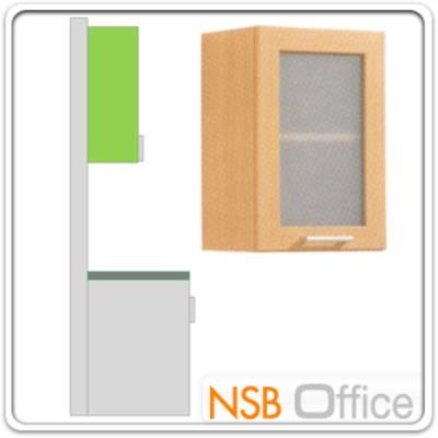 ตู้แขวนบานกระจกสูง 60 ซม. รุ่น SR-WM-40G มือจับอลูมิเนียม   :<p>ขนาดคือ 40W*30D*60H cm. /โครงตู้ปิดผิวด้วยเมลามีน ชนิดพิเศษทนความร้อนสูง ทนต่อรอยขีดข่วน และกรด ด่าง /ผลิต 2 สีคือสีบีช และสีโอ๊ค</p>