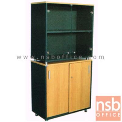 ตู้เก็บเอกสารสูง บนกระจก ล่างบานเลื่อน สูง 165  ซม. เสริมขาเหล็กชุบโครเมี่ยม:<p>ขนาด 80W*40D*165H cm บน 2 ช่องโล่งมีบานเปิดกระจก ช่องล่าง 2 บานเลื่อน หน้าบานมีกุญแจล็อค / TOP ปิดผิวเมลามีน กันชื้น กันร้อน / ผลิต 8 สีคือ สีดำ,สีเทาควันบุหรี่,สีขาว,สีเมเปิ้ล,สีบีช,สีเทาเข้ม,สีโอ๊คและสีเชอร์รี่</p>