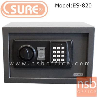 ตู้เซฟดิจตอล SR-ES820  น้ำหนัก 4 กก. (1 รหัสกด / ปุ่มหมุนบิด) :<p>ขนาด 31*20D*20H cm. น้ำหนัก 4 กก. / โครงตู้สร้างด้วยเหล็กคุณภาพ &nbsp;สามารถยึดตัวตู้กับพื้นหรือผนังได้ / เปลี่ยนรหัสได้โดยใช้ตัวเลข 3-8 ตัว /ระบบกุญแจไขฉุกเฉินสามารถเปิดได้กรณีลืมรหัสผ่านหรือแบตเตอร์รี่หมด ระบบล็อคอัตโนมัติ ในกรณีกดรหัสผิด 3 ครั้ง</p>
