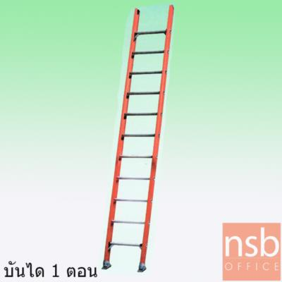 บันไดไฟเบอร์กลาสต้านกระแสไฟฟ้าได้ปรับพาด 1 ตอน SANKI รุ่น LD-FBS:<p>ผลิต 3 ขนาด 10 ฟุต (3.16 เมตร) , 12 ฟุต (3.75 เมตร) , 14 ฟุต (4.35 เมตร) ปลายขาสามารถปรับตามรูปแบบการใช้งานได้ 2 ลักษณะ&nbsp; คือ ขายางผลิตจากโพลิเมอร์เป็นฉนวนกันต้านกระแสไฟและกันลื่นขณะใช้งานเหมาะสำหรับพื้นผิวเรียบและแบบฟันฉลามสำหรับพื้นผิวขรุขระหรือพื้นผิวที่ไม่เสมอกัน ขั้นบันไดผลิตจากอะลูมิเนียมอัลลอยด์มีความทนทานสูง รับน้ำหนักได้ 150 กก.</p>