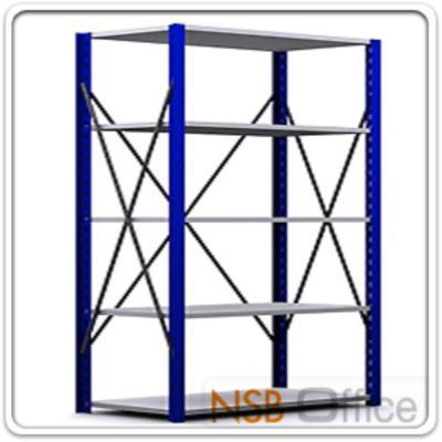 ชั้นเหล็ก MR   5 ,6 แผ่นชั้น ขนาด 100W*50D*180H ,200H ,220H ,240H cm. ชั้นปรับระดับได้ รับน้ำหนัก 150-200 KG/ชั้น:<p>รับน้ำหนักได้ 150-200 KG ต่อชั้น / มีความสูง 4 ขนาดคือ 180,200, 220 และ 240 ซม. / ขนาดที่ระบุเป็นขนาดเฉพาะแผ่นชั้น ขนาดพื้นที่ในการจัดวางรวมเสา = กรณีตัวเดี่ยว +7 cm. / กรณีตัวต่อ + 3 cm/ โครงเหล็กแข็งแรง เสาเหล็กหนา 2 มม. แผ่นชั้นเหล็กหนา1 มม./ เสาสีน้ำเงิน แผ่นชั้นสีเทาอ่อน/<strong>สามารถใช้เสาร่วมได้ กรณีต่อเป็นเส้นตรง ตัวที่ 1 ราคาเต็ม มี 4 เสา, ตัวถัดๆไป มี 2 เสา ลด 600 บาท/ตัว</strong>ใช้ได้ 1 ด้าน (เนื่องจากมี stay ด้านหลัง) | ปรับระดับแผ่นชั้นสะดวกด้วยตัวเกี่ยว 4 ตัว</p>