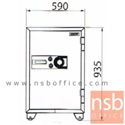 ตู้เซฟนิรภัยชนิดหมุน 190 กก. รุ่น PRESIDENT-SB40 มี 2 กุญแจ 1 รหัส (รหัสใช้หมุนหน้าตู้):<p>ขนาดภายนอก 59W*59.6D*93.5H cm. ขนาดภายใน 45.2W*35.5D*72H cm. หน้าบานตู้มี 2 กุญแจ 1 รหัส ภายในมี 1 ลิ้นชักพร้อมกุญแจล็อคแยก และมี1 ถาดพลาสติก /ความจุ 115 ลิต สามารถกันไฟได้นาน 2 ชั่วโมง</p>
