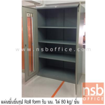 ตู้เหล็กอุตสาหกรรม บานเปิดอะคิลิค 122.2W*61.1D*198.2H cm (รับน้ำหนัก 80 KG/ชั้น):<p>ตู้เหล็กบานเปิดอะคิลิค ขนาด 122.2(ก)*61.1(ล)*198.2(ส) ซม./ตู้อุตสาหกรรมมาตรฐาน USA เหมาะสำหรับอุตสาหกรรมที่ใช้งานหนัก รับน้ำหนักได้ 80 กก.ต่อชั้น/แผ่นชั้นปรับระดับ 3 ชั้น เสริมความแข็งแรง ( Reinforce ) ด้วยการขึ้นรูปแบบ Roll Form สามารถรับน้ำหนักได้ 80 กก.ต่อชั้น / หน้าบานเหล็ก หรือ อะคริลิค เกรด A หนา 2 มม./ระบบล็อคพร้อมกัน 3 จุด พร้อมมือจับชุบโครเมี่ยม / โครงตู้ระบบ K/D ถอดประกอบเคลื่อนย้ายได้ / บานประตูแข็งแรงด้วยเหล็กเสริมโครงและบานพับขนาดใหญ่</p>