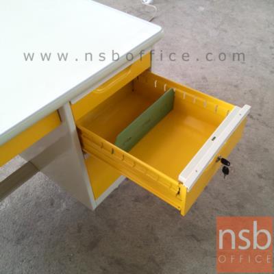 โต๊ะทำงานเหล็กหน้าเหล็ก 4 ลิ้นชัก :<p>ความกว้าง 3 ขนาด 3, 3.5 และ 4 ฟุต&nbsp;</p>