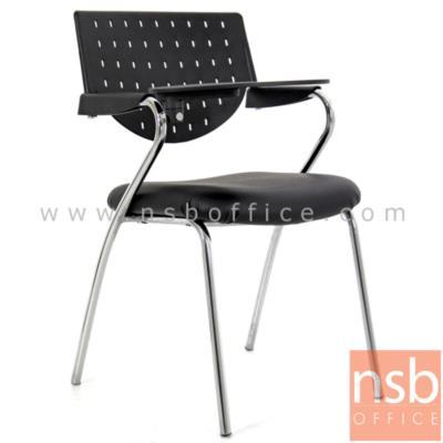 เก้าอี้เลคเชอร์พนักพิงเปลือกโพลี่ รุ่น PE-528L ขาเหล็กชุปโครเมี่ยม:<p>ขนาด 51W*55D*83H cm./ พนักพิงเปลือกโพลี่ โครงเหล็กชุปโครเมี่ยม/ที่นั่งบุฟองน้ำหุ้มหนังเทียม หรือผ้าฝ้าย (หุ้มผ้าฝ้ายเพิ่ม 150 บาท)</p>