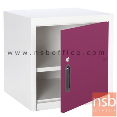 ตู้เหล็ก 1 บานเปิดทึบ หน้าบานสีสัน 44W*40.7D*44H cm รุ่น UNI-1   :<p>ขนาด 440W*407D*440H mm. / Keylock /ผลิต 8 สี</p>