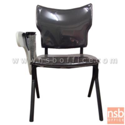 เก้าอี้เลคเชอร์เบาะขาวีคว่ำ รุ่น CV-383 ขาเหล็กพ่นดำ:<p>ขนาด 64W*72D*85H cm. โครงเก้าอี้ทำจากเหล็กแป๊บรูปไข่ โครงแขนแลคเชอร์ ทำจากเหล็กแป๊บกลม แผ่นที่นั่ง-หลังพิงทำจากไม้อัดตัดขึ้นรูป บุฟองน้ำหุ้มด้วยหนังเทียม (หุ้มผ้าเพิ่ม 180 บาท) ไม้เลคเชอร์ทำจากไม้ปาร์ติเกิ้ลบอร์ด แบบพับเก็บด้านข้างได้ โครงเหล็กพ่นสีดำในระบบ EPOXY</p>