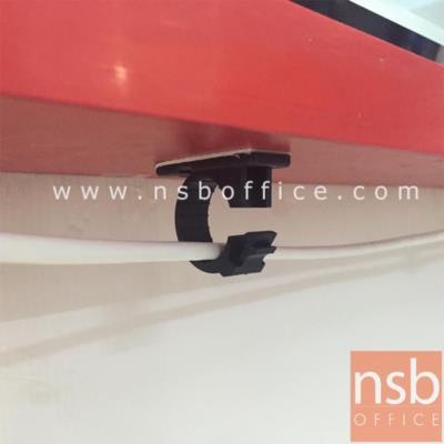 ตัวเก็บสายไฟแบบติดตั้งใต้โต๊ะ ขนาดความจุ Di 2 cm เปิดปิดได้ (ชุดละ 5 อัน):<p>ใช้สำหรับการเก็บร้อยสายไฟใต้โต๊ะ ตัวหนีบสามารถเปิดปิดได้ ขนาดเส้นผ่านศูนย์กลาง Di 2 cm มีแถบกาวสองหน้าในตัวพร้อมรูสำหรับยึดน๊อต เนื้อพลาสติดเหนียวไม่แตกง่าย ผลิตสีดำ / ขนาดบรรจุ 5 ชิ้น</p>