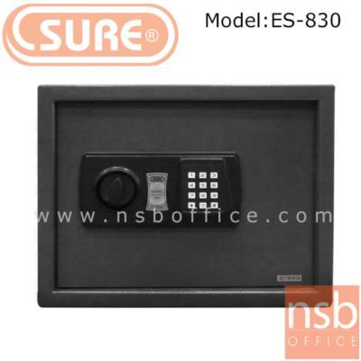 ตู้เซฟดิจตอล SR-ES830  น้ำหนัก 11 กก. (1 รหัสกด / ปุ่มหมุนบิด) :<p>ขนาด 38W*30D*30H cm. น้ำหนัก 16 กก. / โครงตู้สร้างด้วยเหล็กคุณภาพ &nbsp;สามารถยึดตัวตู้กับพื้นหรือผนังได้ / เปลี่ยนรหัสได้โดยใช้ตัวเลข 3-8 ตัว /ระบบกุญแจไขฉุกเฉินสามารถเปิดได้กรณีลืมรหัสผ่านหรือแบตเตอร์รี่หมด ระบบล็อคอัตโนมัติ ในกรณีกดรหัสผิด 3 ครั้ง</p>