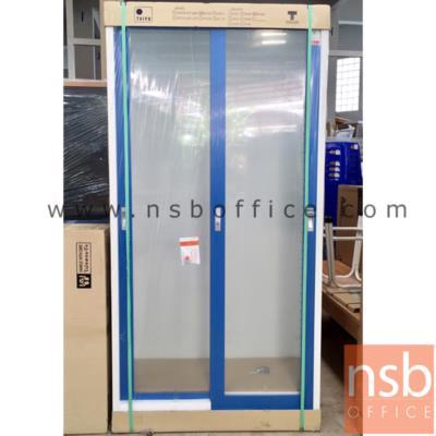 ตู้เอกสารบานเลื่อนกระจกสูง 183 ซม.:<p>916(W)*458(D)*1830(H) mm. / Keylock / โครงตู้ทำด้วยเหล็กหนา 0.6 mm. /เลื่อนเปิด-ปิดง่ายด้วยลูกล้อคุณภาพมาตรฐานยุโรป/ผลิต 5 สีคือ สีเทา,สีน้ำเงิน,สีเขียว,สีส้ม และสีแดง</p>
