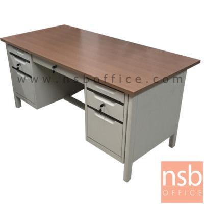 โต๊ะทำงาน 7 ลิ้นชักขากล่อง รุ่น TY-TTD2 มือจับอลูมิเนียมพร้อมกุญแจล็อค:<p>ขนาด 160.5W*77D*75H โครงโต๊ะผลิตจากเหล็กหนา 0.6 มม. บังโป๊ด้านข้าง-ด้านหน้าใช้ชิ้นเดียว มือจับผลิตจากอลูมิเนียมระบบ CENTRAL LOCK ใต้โต๊ะติดตั้งปุ่มปรับระดับตามพื้นที่การใช้งาน ขาตรงชิดโต๊ะด้านข้าง หน้า TOP สีเมลามิน ผลิต 2 สีคือ สี Euroline Gray และ สีMagic Strip</p>