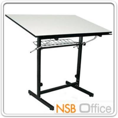 """โต๊ะเขียนแบบ 90W*60D*95.3H cm. TD-0908 ปรับองศาได้ มีตะแกรงข้างใต้ รุ่น DT-6090 :<p>ขนาด 90W*60D*95.3H cm. / หน้าโต๊ะผิวเมลามีนแบบเรียบ ขาเหล็กกล่อง 1x2 นิ้ว / ปรับมุมเอียงได้ และปรับระดับความสูงได้ (ไม่มีไม้บรรทัด) / แนะนำใช้งานคู่กับ <a title=""""เก้าอี้เขียนแบบ"""" href=""""http://www.nsboffice.com/catalog/lobby_chairs_lecture_chairs_meeting_chairs/laboratory_chairs_polyurethane_stools.aspx"""">เก้าอี้เขียนแบบ</a></p>"""