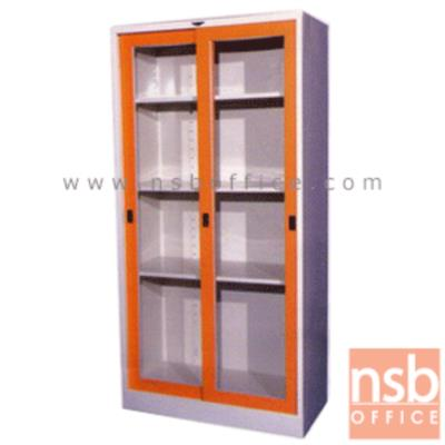 ตู้เหล็กบานเลื่อนกระจก สูง 182.9 cm.:<p>ขนาด 91.4W*45.7D*182.9H cm / 3 แผ่นชั้น (4 ช่อง) ปรับระดับได้ &nbsp;</p>