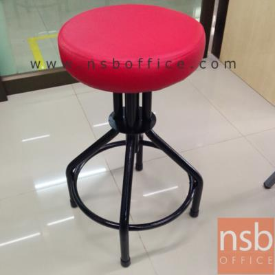 เก้าอี้สตูลสูง ขนาด 32Di*63H cm. รุ่น DT-159:<p>ขนาด 32Di*63H cm. โครงเก้าอี้ขาเหล็กพ่นดำ /ที่นั่งบุฟองน้ำหุ้มหนังเทียม สีแดง</p>