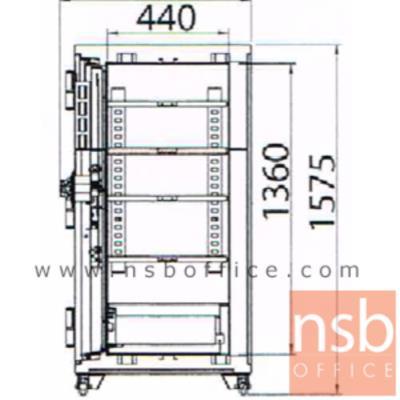 ตู้เซฟนิรภัย 2 บานเปิดชนิดหมุน 550 กก. รุ่น PRESIDENT-STD150 มี 3 กุญแจ 1 รหัส   :<p>ขนาดภายนอก 104.2W*69D*157.5H cm. ขนาดภายใน 90W*44D*136H cm. หน้าบานตู้มี 3 กุญแจ 1 รหัส ภายในมี 2 ลิ้นชักพร้อมกุญแจล็อคแยก และมี 4 แผ่นชั้น /ความจุ 538 ลิต สามารถกันไฟได้นาน 2 ชั่วโมง</p>