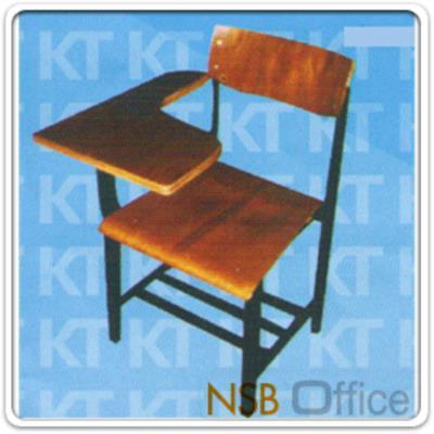 เก้าอี้เลคเชอร์ไม้โครงเหล็ก พับไม่ได้ (ใต้เก้าอี้มีที่วางของ):<p>เก้าอี้เลคเชอร์ แบบพับไม่ได้ แผ่นไม้ยึดติดกับเก้าอี้ / ใต้เก้าอี้มีแกนเหล็ก 3 เส้นสำหรับวางของ</p>