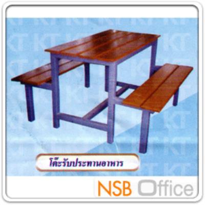 โต๊ะรับประทานอาหารไม้โครงเหล็กเชื่อมติด:<p>โต๊ะรับประทานอาหารแบบไม้โครงเหล็กเชื่อมยึดติดทั้งหน้าโต๊ะและที่นั่ง มี&nbsp;4 ขนาด เหล็ก 1 นิ้ว (&nbsp; 2 หุน ) หนา 1 มม. แผ่นไม้หนา 1 ซม.</p>