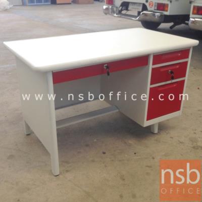โต๊ะทำงานเหล็กสีสัน 4 ฟุต  ยี่ห้อ สมาร์ทฟอร์ม :<p>ผลิต 2 ขนาด คือ 3 ฟุตครึ่งและ 4 ฟุต / โครงโต๊ะผลิตจากเหล็กหนา 0.5 มม. / ผลิต 4 สี คิอ สีแดง,สีน้ำเงิน,สีส้ม,สีเขียว</p>
