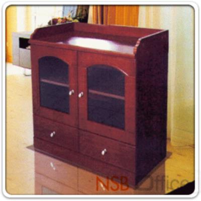 ตู้เอกสารเตี้ย 2 บานเปิดกระจก 2 ลิ้นชัก รุ่น Hotel-I ขนาด 80W*40D*85H cm. (Top มีขอบกันตก) :<p>ขนาด 80W*40D*85H cm / ขนาด 2 บานเปิดกระจก 2 ลิ้นชัก ไม่มีกุญแจ / Top มีขอบกันตก วางของสะดวก</p>
