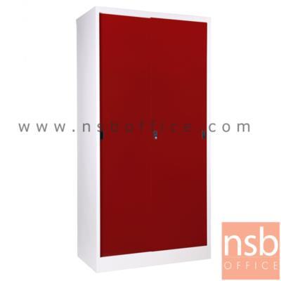 ตู้บานเลื่อนทึบ สูง 183 ซม. รุ่น SOD-18 :<p>91.4W*45.7D*182.9H cm. / Keylock / ผลิต 8 สีคือ สีขาวมุก, สีดำ, สีแดง, สีม่วง, สีส้ม, สีฟ้า, สีเขียว และสีเทาฟ้า</p>